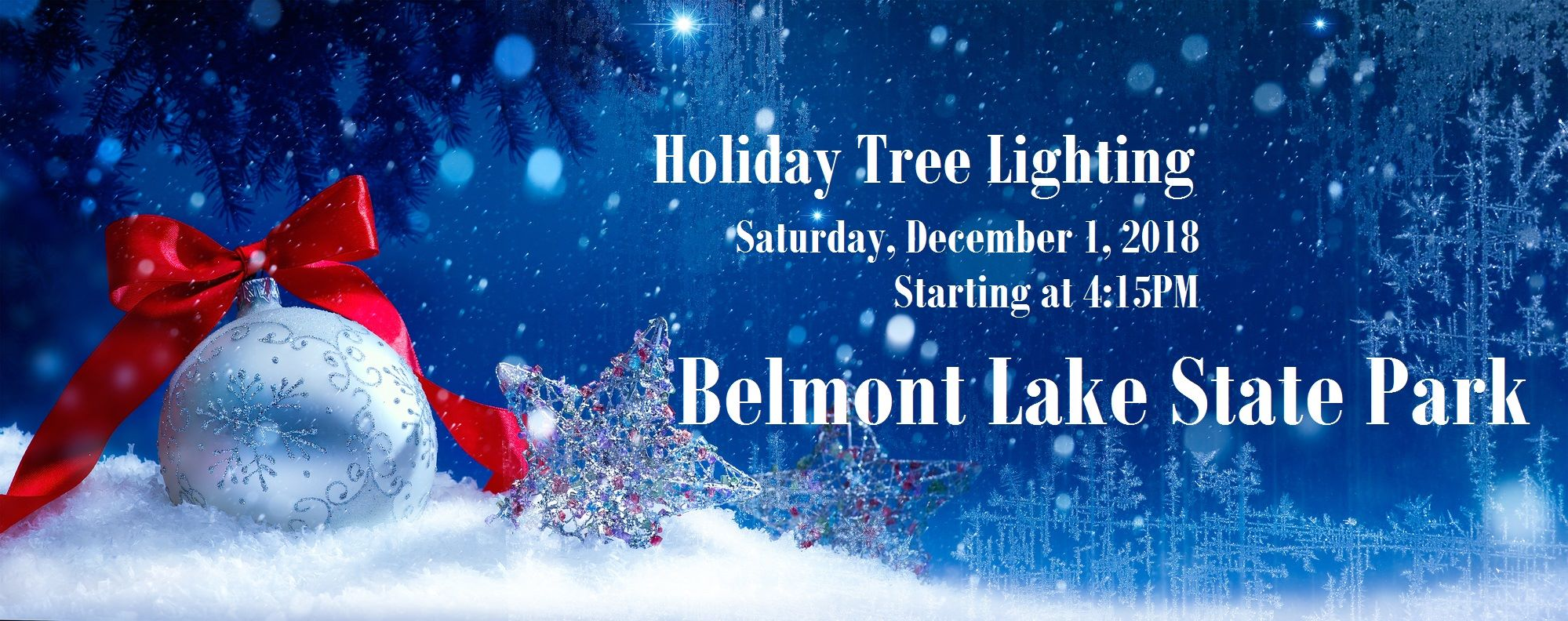 Belmont Lake State Park Tree Lighting Christmas Lights Li